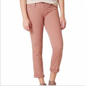 Miss me mid rise capri pants dusty pink NWT